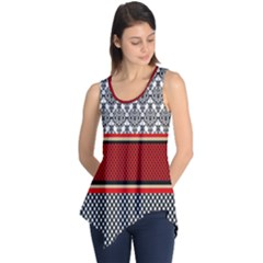 Background Damask Red Black Sleeveless Tunic