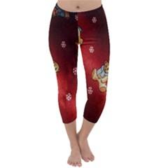 Background Fabric Capri Winter Leggings