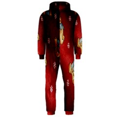 Background Fabric Hooded Jumpsuit (men)