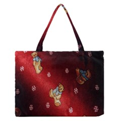 Background Fabric Medium Zipper Tote Bag