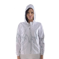 Background Modern Computer Design Hooded Wind Breaker (Women)