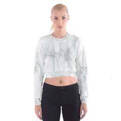 Background Modern Computer Design Women s Cropped Sweatshirt