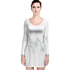 Background Modern Computer Design Long Sleeve Velvet Bodycon Dress