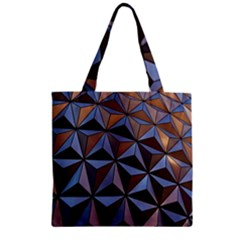 Background Geometric Shapes Zipper Grocery Tote Bag