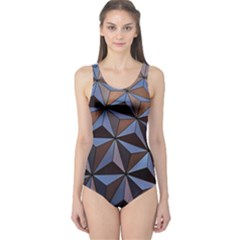 Background Geometric Shapes One Piece Swimsuit