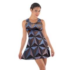 Background Geometric Shapes Cotton Racerback Dress