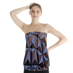 Background Geometric Shapes Strapless Top