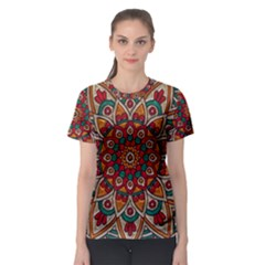 Background Metallizer Pattern Art Women s Sport Mesh Tee