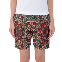 Background Metallizer Pattern Art Women s Basketball Shorts