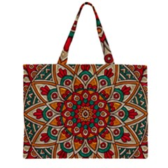Background Metallizer Pattern Art Large Tote Bag