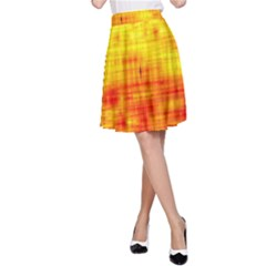 Background Image Abstract Design A-Line Skirt