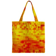 Background Image Abstract Design Zipper Grocery Tote Bag