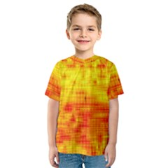 Background Image Abstract Design Kids  Sport Mesh Tee