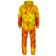 Background Image Abstract Design Hooded Jumpsuit (Men)