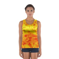 Background Image Abstract Design Women s Sport Tank Top