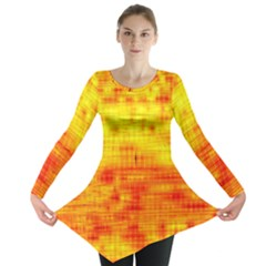 Background Image Abstract Design Long Sleeve Tunic