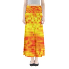 Background Image Abstract Design Maxi Skirts