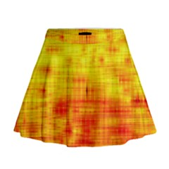 Background Image Abstract Design Mini Flare Skirt