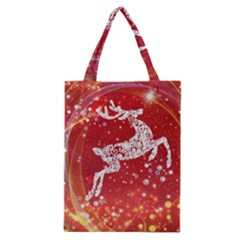 Background Reindeer Christmas Classic Tote Bag