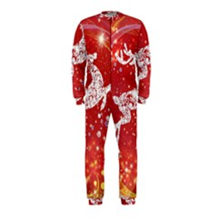 Background Reindeer Christmas OnePiece Jumpsuit (Kids)