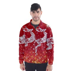 Background Reindeer Christmas Wind Breaker (men)
