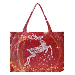 Background Reindeer Christmas Medium Tote Bag