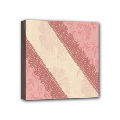 Background Pink Great Floral Design Mini Canvas 4  x 4