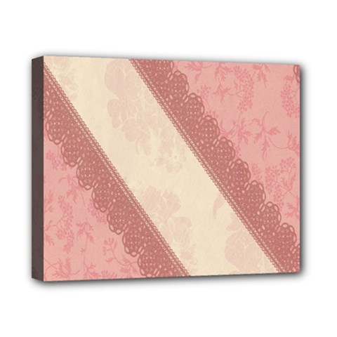 Background Pink Great Floral Design Canvas 10  x 8