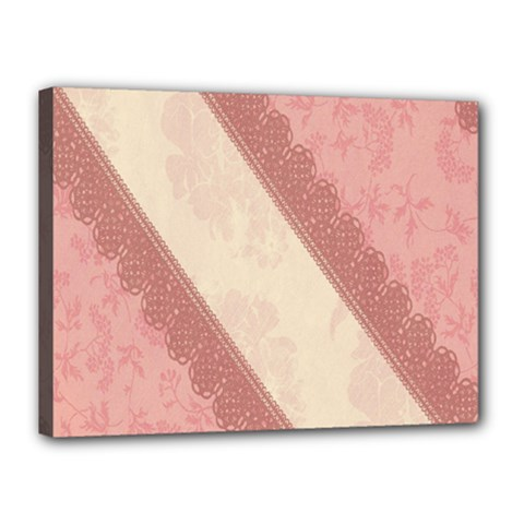 Background Pink Great Floral Design Canvas 16  x 12
