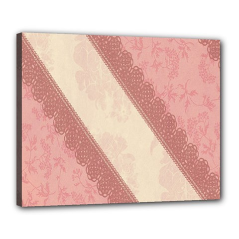 Background Pink Great Floral Design Canvas 20  x 16