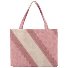 Background Pink Great Floral Design Mini Tote Bag