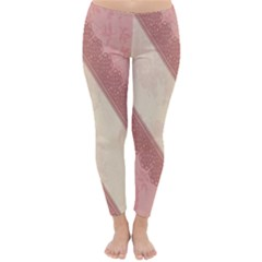 Background Pink Great Floral Design Classic Winter Leggings