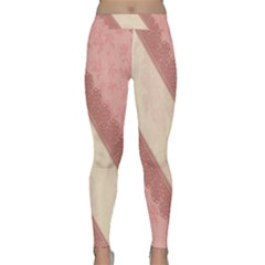 Background Pink Great Floral Design Classic Yoga Leggings
