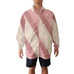 Background Pink Great Floral Design Wind Breaker (Kids)