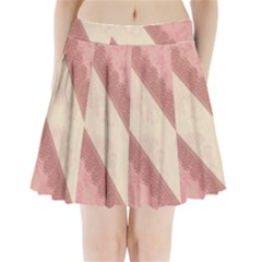 Background Pink Great Floral Design Pleated Mini Skirt