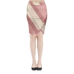 Background Pink Great Floral Design Midi Wrap Pencil Skirt