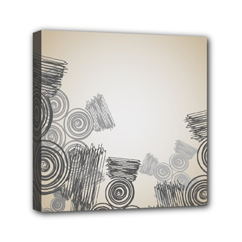 Background Retro Abstract Pattern Mini Canvas 6  x 6