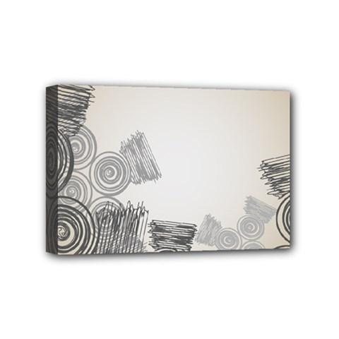 Background Retro Abstract Pattern Mini Canvas 6  x 4