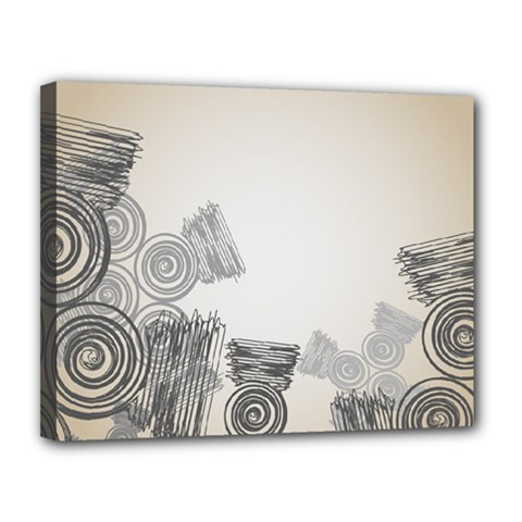 Background Retro Abstract Pattern Canvas 14  X 11