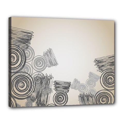 Background Retro Abstract Pattern Canvas 20  x 16