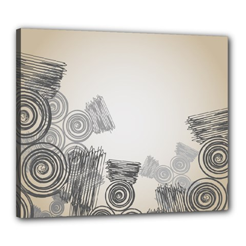 Background Retro Abstract Pattern Canvas 24  x 20