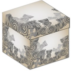 Background Retro Abstract Pattern Storage Stool 12