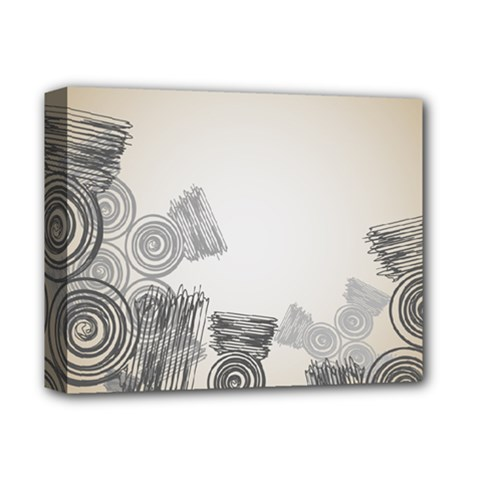 Background Retro Abstract Pattern Deluxe Canvas 14  x 11