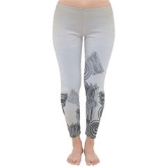 Background Retro Abstract Pattern Classic Winter Leggings