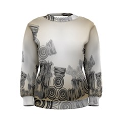 Background Retro Abstract Pattern Women s Sweatshirt
