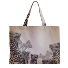 Background Retro Abstract Pattern Zipper Mini Tote Bag