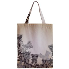 Background Retro Abstract Pattern Zipper Classic Tote Bag