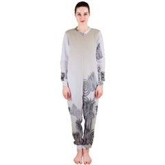 Background Retro Abstract Pattern Onepiece Jumpsuit (ladies)