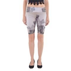 Background Retro Abstract Pattern Yoga Cropped Leggings
