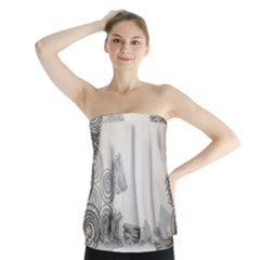 Background Retro Abstract Pattern Strapless Top